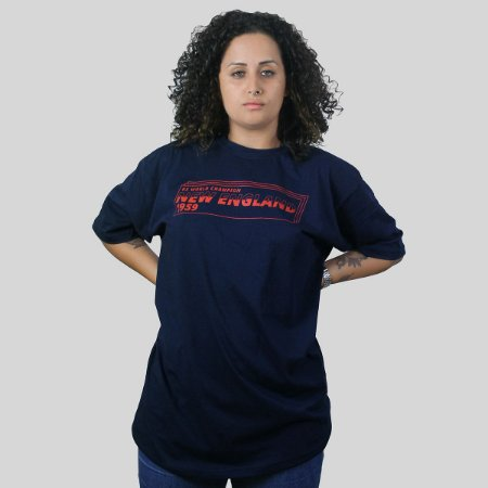 Camiseta The Fumble Division New England Marinho