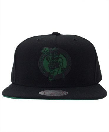 Boné Snapback Mitchell and Ness Boston Celtics Preto