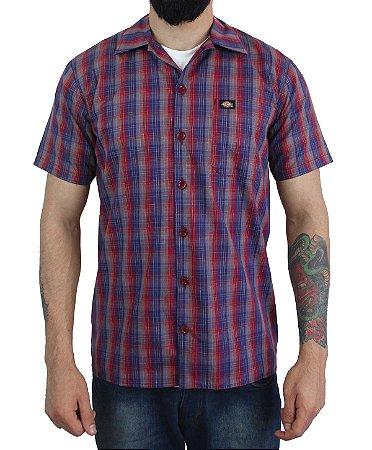 Camisa Dickies Xadrez Vermelho / Azul