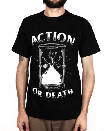 Camiseta Action Clothing Action or Death PRETO
