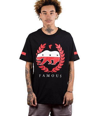 Camiseta Famous Bear Wreath Preta