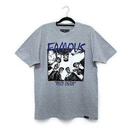 Camiseta Famous SWA Cinza Mescla