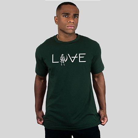 Camiseta Action Clothing Love Musgo