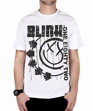 Camiseta blink-182 Blink One Eighty Two Branca