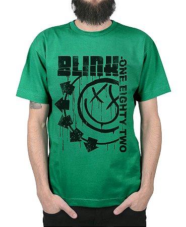 Camiseta blink-182 Blink One Eighty Two Verde