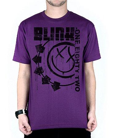 Camiseta blink-182 Blink One Eighty Two Roxo