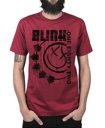 Camiseta blink-182 Blink One Eighty Two Vinho