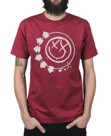 Camiseta blink-182 Smiley Vinho