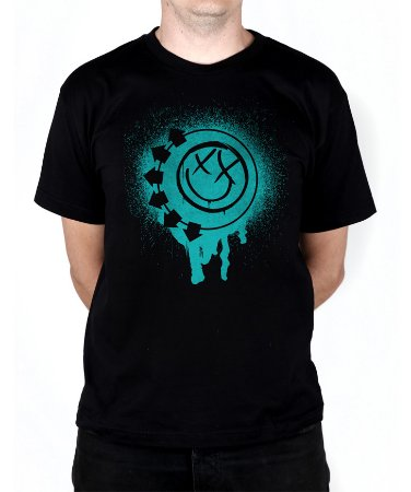 Camiseta blink-182 Smile Painted Preta