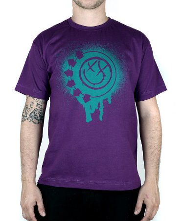 Camiseta blink-182 Smile Painted Roxo