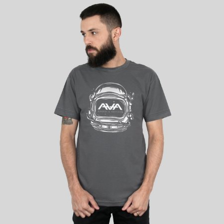 Camiseta AVA Space Head Chumbo