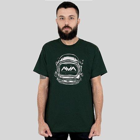 Camiseta Action Clothing Space Head Musgo