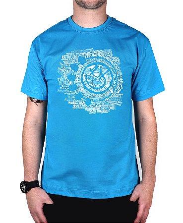 Camiseta blink-182 Smile Songs Turquesa
