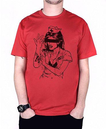 Camiseta blink-182 Enema Girl Vermelha