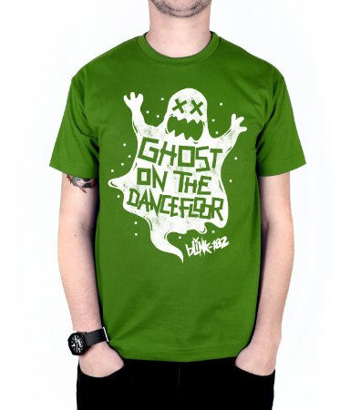 Camiseta blink-182 Ghost On The Dancefloor Verde