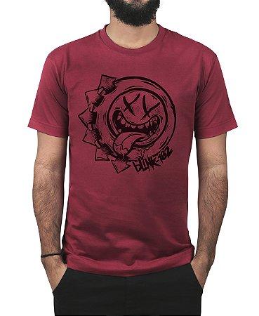 Camiseta blink-182 Smile Hungry Vinho