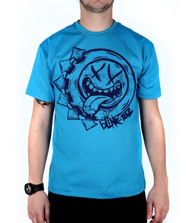 Camiseta blink-182 Smile Hungry Turquesa