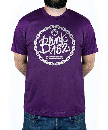Camiseta blink-182 Chain Roxo