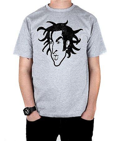 Camiseta blink-182 Travis Old School Cinza Mescla