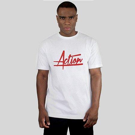 Camiseta Action Clothing Script Branca