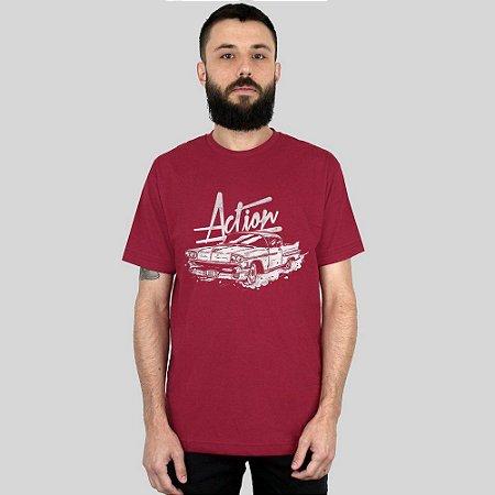 Camiseta Action Clothing The Cadillac Vinho