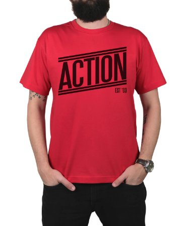 Camiseta Action Clothing Tagless Vermelha