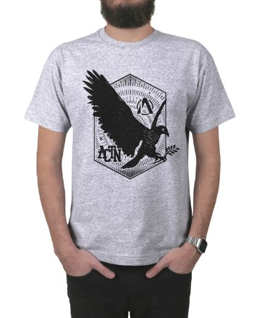 Camiseta Action Clothing Eagle Cinza Mescla