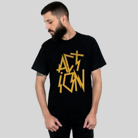 Camiseta Action Clothing Electro Punk Preta