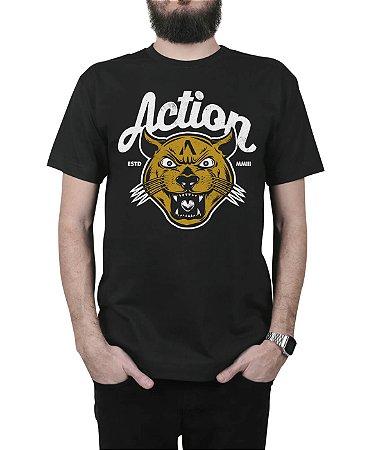 Camiseta Action Clothing The Panther Preta