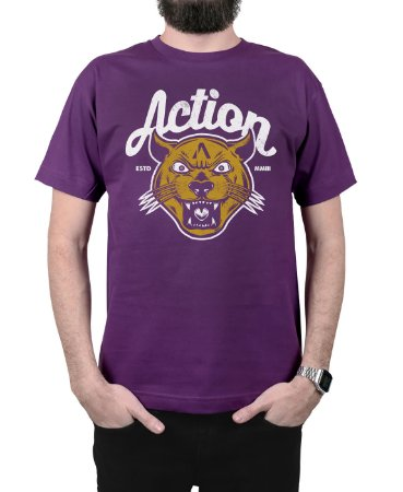 Camiseta Action Clothing The Panther Roxa