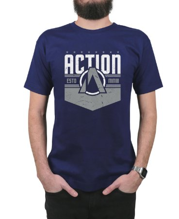 Camiseta Action Clothing The Nation Marinho