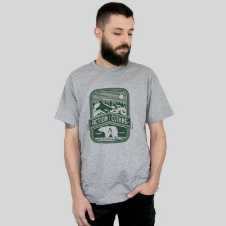 Camiseta Action Clothing Alaska Cinza Mescla