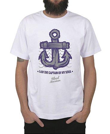 Camiseta Bleed American Captain Branca