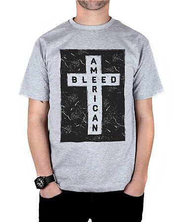 Camiseta Bleed American Cross Cinza Mescla