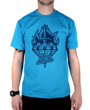 Camiseta Bleed American Diamond Turquesa