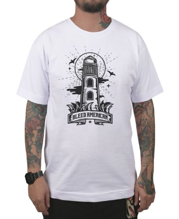 Camiseta Bleed American Lighthouse Branca