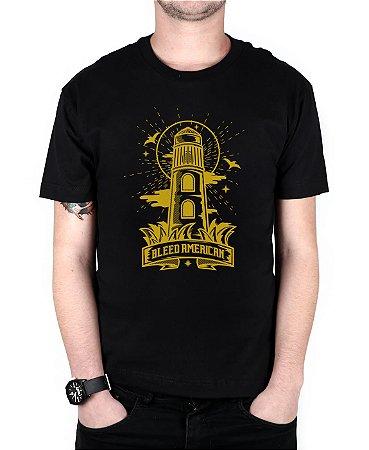 Camiseta Bleed American Lighthouse Preta