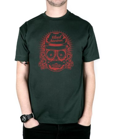 Camiseta Bleed American Mexican Musgo