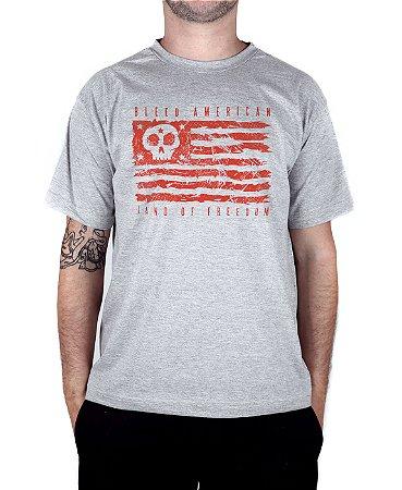 Camiseta Bleed American Land Of Freedom Cinza Mescla