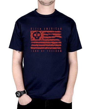 Camiseta Bleed American Land Of Freedom Marinho