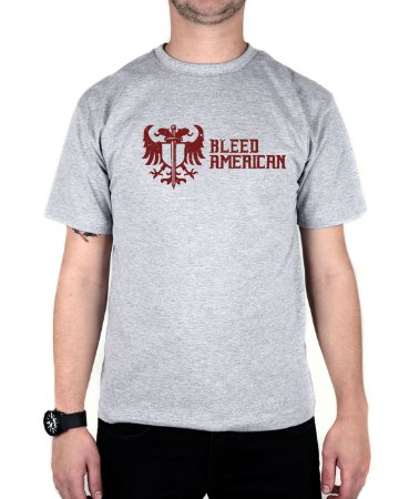 Camiseta Bleed American Squad Cinza Mescla