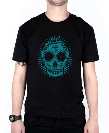 Camiseta Bleed American Sugar Skull Preta