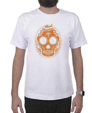 Camiseta Bleed American Sugar Skull Branca