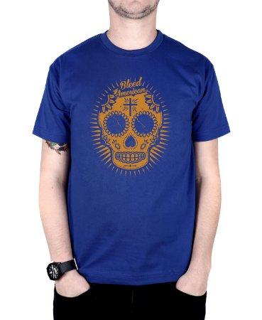Camiseta Bleed American Sugar Skull Royal