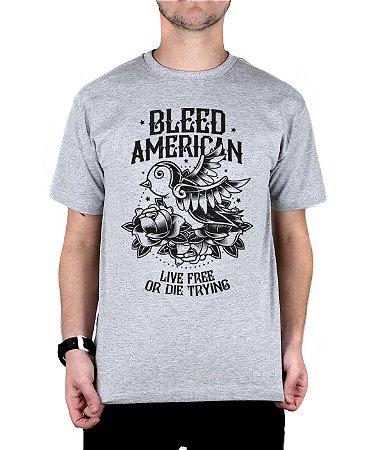Camiseta Bleed American Swallow Cinza Mescla