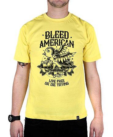 Camiseta Bleed American Swallow Amarela