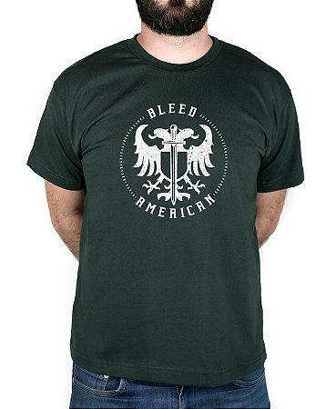 Camiseta Bleed American Sword Of Wisdom Musgo