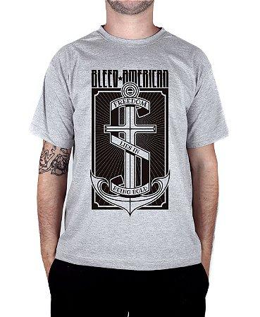 Camiseta Bleed American The Anchor Cinza Mescla