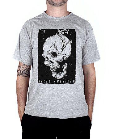 Camiseta Bleed American Life and Death Cinza Mescla