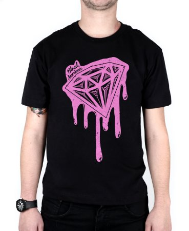 Camiseta Bleed American Shine Diamond Preta